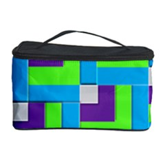 Geometric 3d Mosaic Bold Vibrant Cosmetic Storage Case by Amaryn4rt