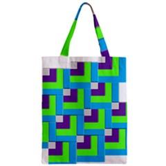 Geometric 3d Mosaic Bold Vibrant Zipper Classic Tote Bag by Amaryn4rt