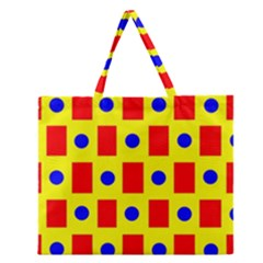 Pattern Design Backdrop Zipper Large Tote Bag by Amaryn4rt