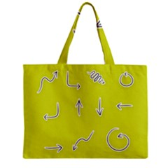 Arrow Line Sign Circle Flat Curve Zipper Mini Tote Bag by Amaryn4rt