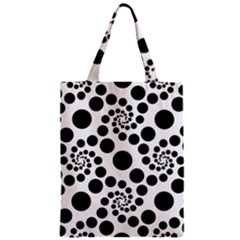 Dot Dots Round Black And White Zipper Classic Tote Bag by Amaryn4rt