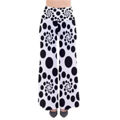 Dot Dots Round Black And White Pants by Amaryn4rt