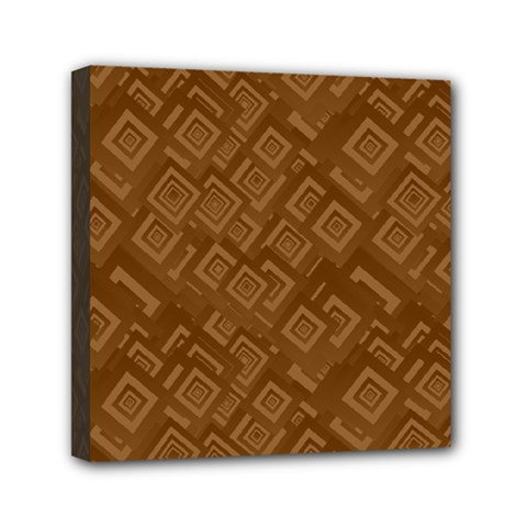 Brown Pattern Rectangle Wallpaper Mini Canvas 6  X 6  by Amaryn4rt
