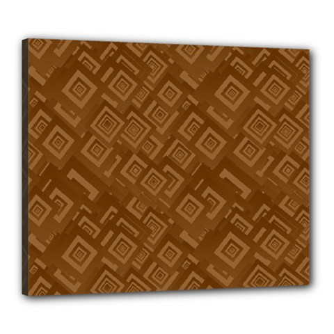 Brown Pattern Rectangle Wallpaper Canvas 24  X 20  by Amaryn4rt