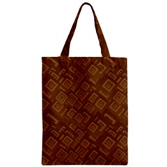 Brown Pattern Rectangle Wallpaper Zipper Classic Tote Bag by Amaryn4rt