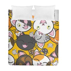 Cats Pattern Duvet Cover Double Side (full/ Double Size) by Valentinaart