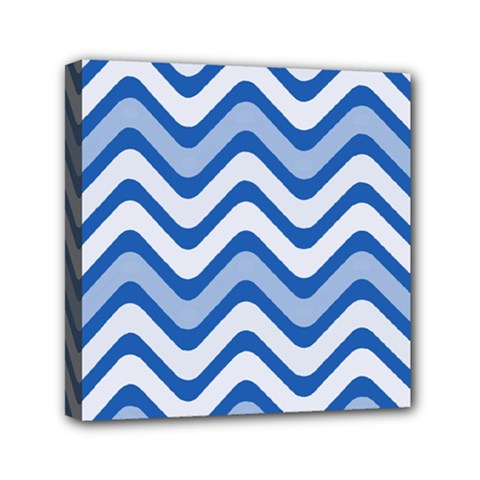 Waves Wavy Lines Pattern Design Mini Canvas 6  X 6  by Amaryn4rt