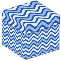 Waves Wavy Lines Pattern Design Storage Stool 12   by Amaryn4rt