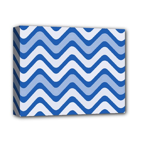 Waves Wavy Lines Pattern Design Deluxe Canvas 14  X 11  by Amaryn4rt