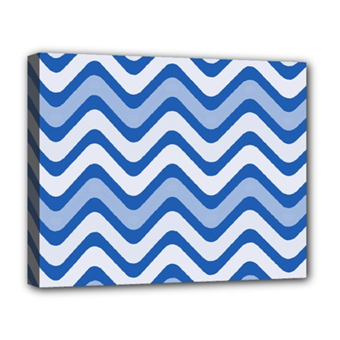 Waves Wavy Lines Pattern Design Deluxe Canvas 20  X 16   by Amaryn4rt