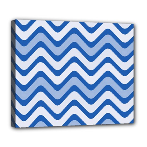 Waves Wavy Lines Pattern Design Deluxe Canvas 24  X 20   by Amaryn4rt