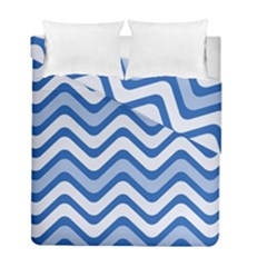 Waves Wavy Lines Pattern Design Duvet Cover Double Side (full/ Double Size) by Amaryn4rt