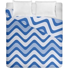 Waves Wavy Lines Pattern Design Duvet Cover Double Side (california King Size) by Amaryn4rt
