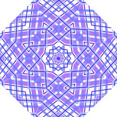 Geometric Plaid Pale Purple Blue Straight Umbrellas by Amaryn4rt