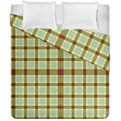 Geometric Tartan Pattern Square Duvet Cover Double Side (california King Size) by Amaryn4rt