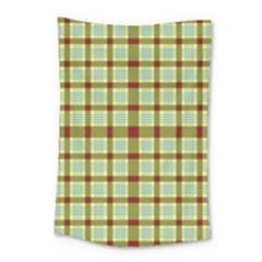 Geometric Tartan Pattern Square Small Tapestry by Amaryn4rt