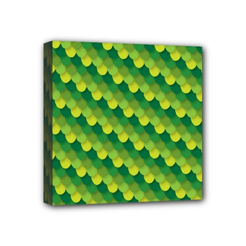 Dragon Scale Scales Pattern Mini Canvas 4  X 4  by Amaryn4rt