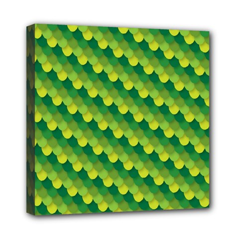Dragon Scale Scales Pattern Mini Canvas 8  X 8  by Amaryn4rt