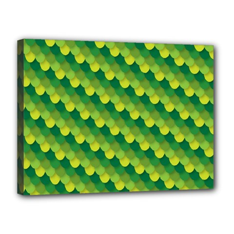 Dragon Scale Scales Pattern Canvas 16  X 12  by Amaryn4rt