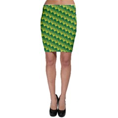 Dragon Scale Scales Pattern Bodycon Skirt