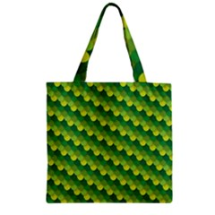 Dragon Scale Scales Pattern Zipper Grocery Tote Bag by Amaryn4rt