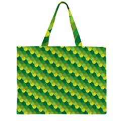 Dragon Scale Scales Pattern Zipper Large Tote Bag by Amaryn4rt