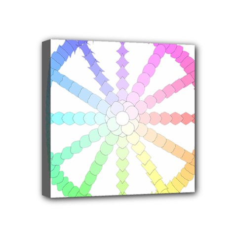 Polygon Evolution Wheel Geometry Mini Canvas 4  X 4  by Amaryn4rt