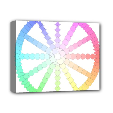 Polygon Evolution Wheel Geometry Deluxe Canvas 14  X 11  by Amaryn4rt