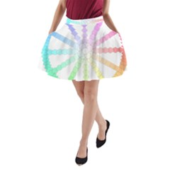 Polygon Evolution Wheel Geometry A Line Pocket Skirt by Amaryn4rt