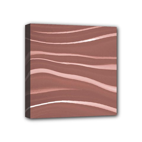 Lines Swinging Texture Background Mini Canvas 4  X 4  by Amaryn4rt