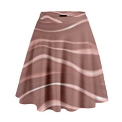 Lines Swinging Texture Background High Waist Skirt by Amaryn4rt