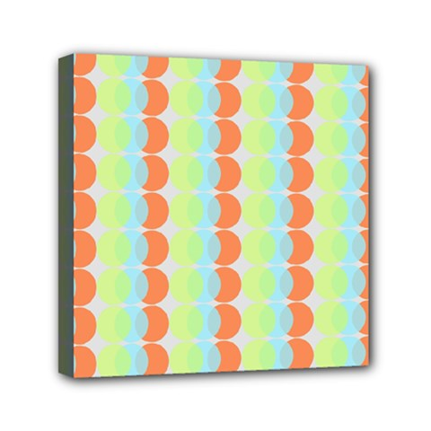 Circles Orange Blue Green Yellow Mini Canvas 6  X 6  by Alisyart