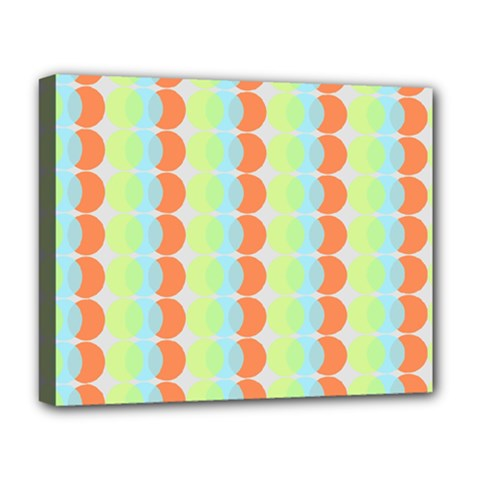 Circles Orange Blue Green Yellow Deluxe Canvas 20  X 16   by Alisyart