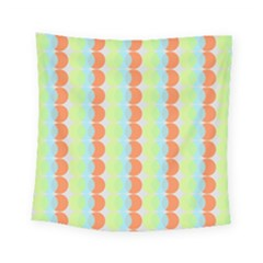 Circles Orange Blue Green Yellow Square Tapestry (small) by Alisyart