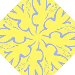Doodle Shapes Large Flower Floral Grey Yellow Straight Umbrellas by Alisyart