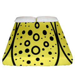 Easter Egg Shapes Large Wave Black Yellow Circle Dalmation Fitted Sheet (king Size) by Alisyart