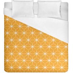 Yellow Stars Light White Orange Duvet Cover (king Size) by Alisyart