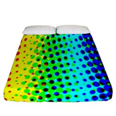 Comic Strip Dots Circle Rainbow Fitted Sheet (california King Size) by Alisyart