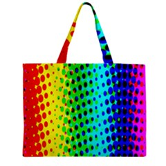 Comic Strip Dots Circle Rainbow Medium Tote Bag by Alisyart