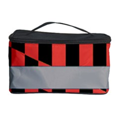 Falg Sign Star Line Black Red Cosmetic Storage Case by Alisyart
