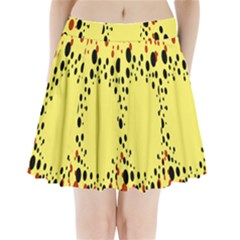 Gradients Dalmations Black Orange Yellow Pleated Mini Skirt by Alisyart