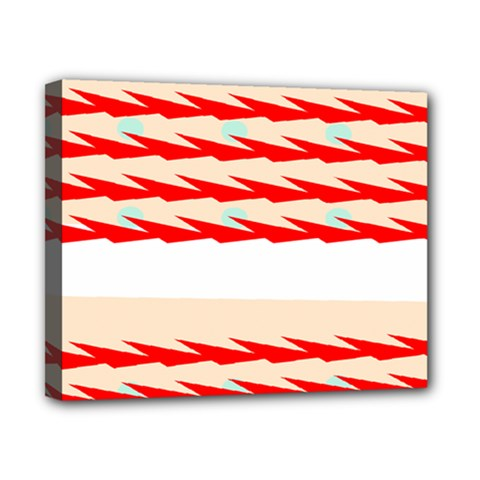Chevron Wave Triangle Red White Circle Blue Canvas 10  X 8  by Alisyart