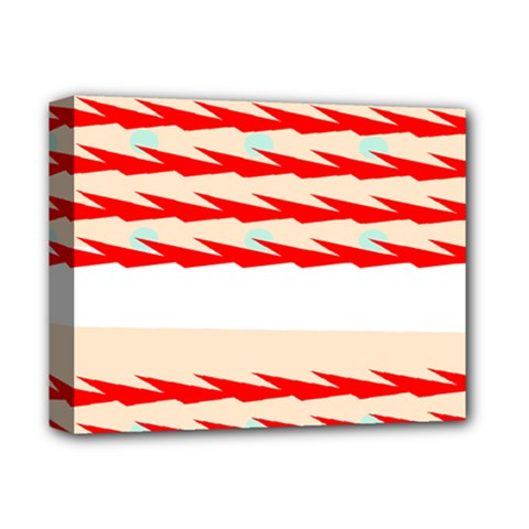 Chevron Wave Triangle Red White Circle Blue Deluxe Canvas 14  X 11  by Alisyart