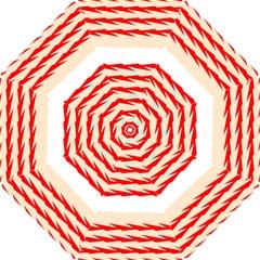 Chevron Wave Triangle Red White Circle Blue Hook Handle Umbrellas (medium)
