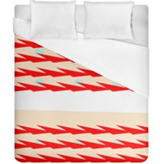 Chevron Wave Triangle Red White Circle Blue Duvet Cover (california King Size) by Alisyart