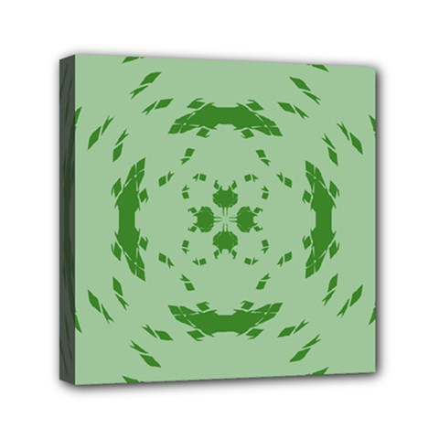 Green Hole Mini Canvas 6  X 6  by Alisyart