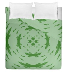 Green Hole Duvet Cover Double Side (queen Size) by Alisyart