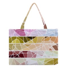 Geometric Mosaic Line Rainbow Medium Tote Bag by Alisyart