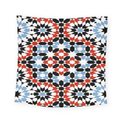 Oriental Star Plaid Triangle Red Black Blue White Square Tapestry (small) by Alisyart