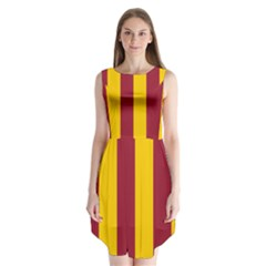 Red Yellow Flag Sleeveless Chiffon Dress